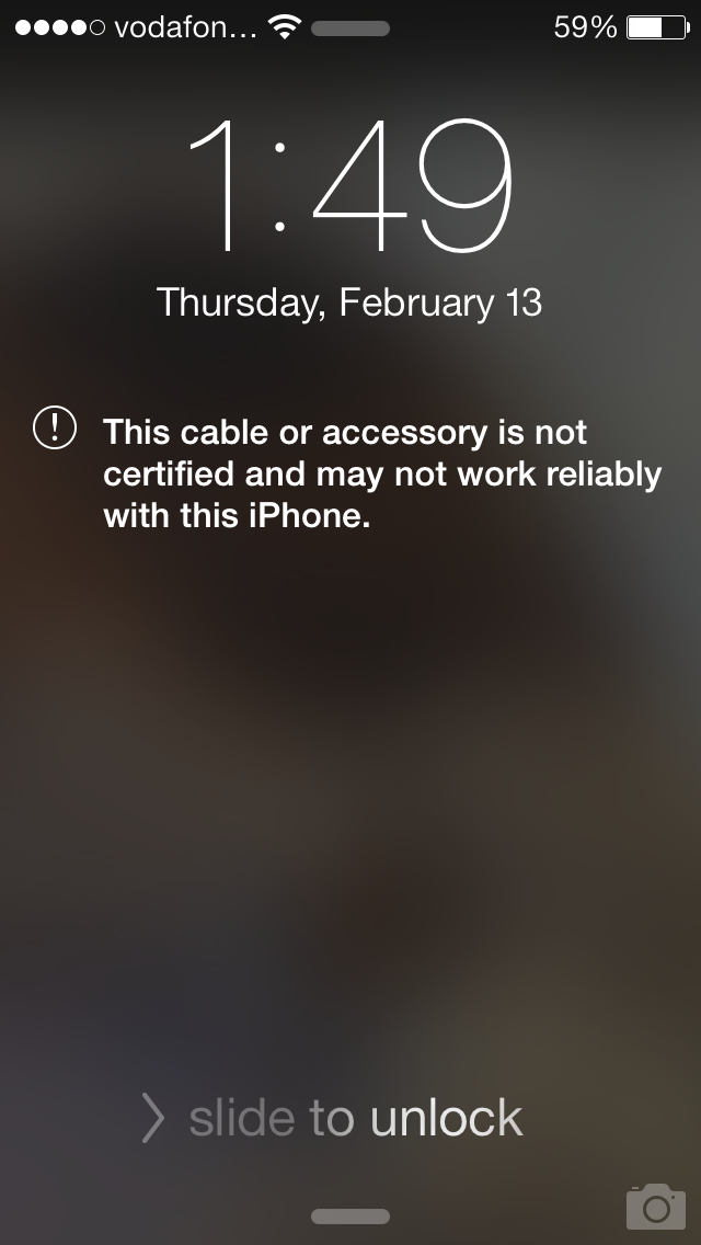 iphone this accessory may not be supported apple iphone 5 cable not working try removing dust from 1033
